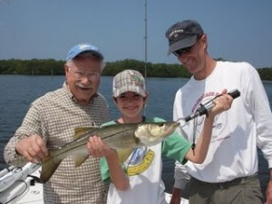 Family with a Tampa Snook