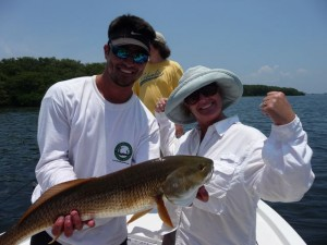 Tampa fishing guide Capt. Will Shook with Redfish