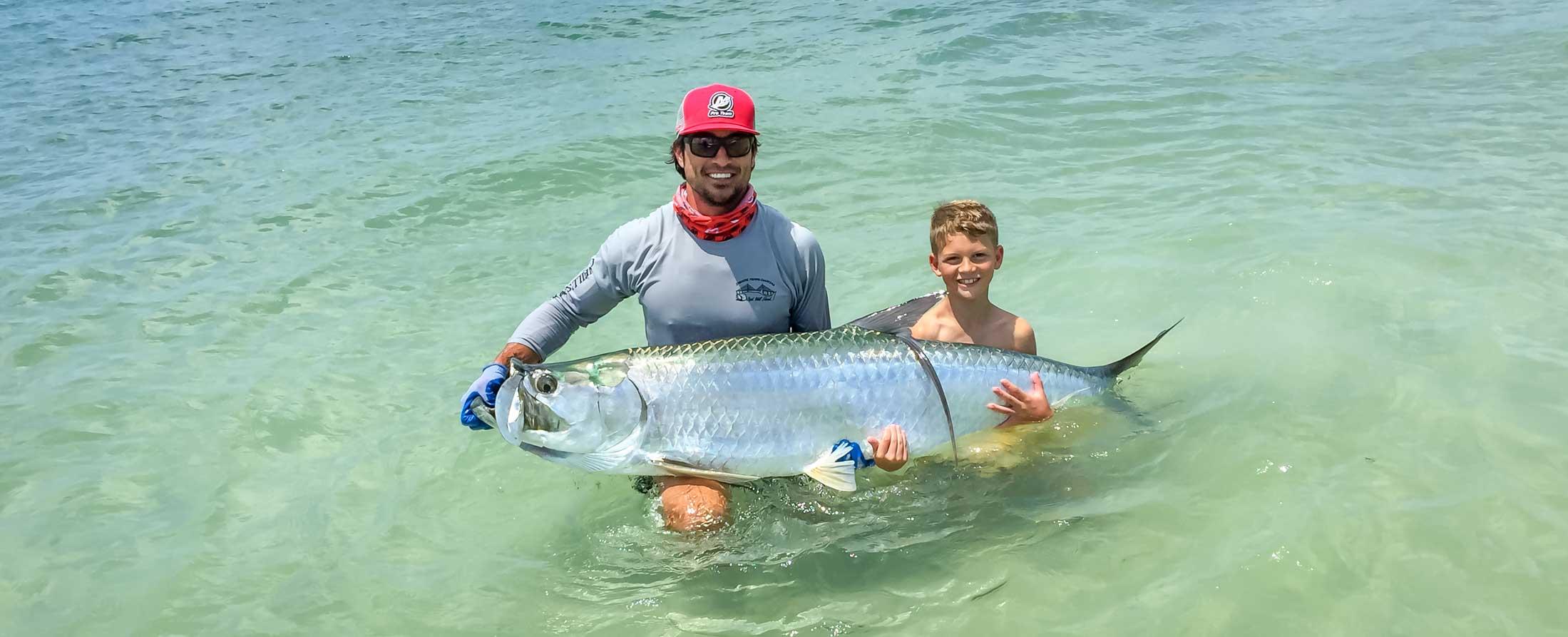 Tampa Tarpon Fishing Charter - Anglers with Tarpon